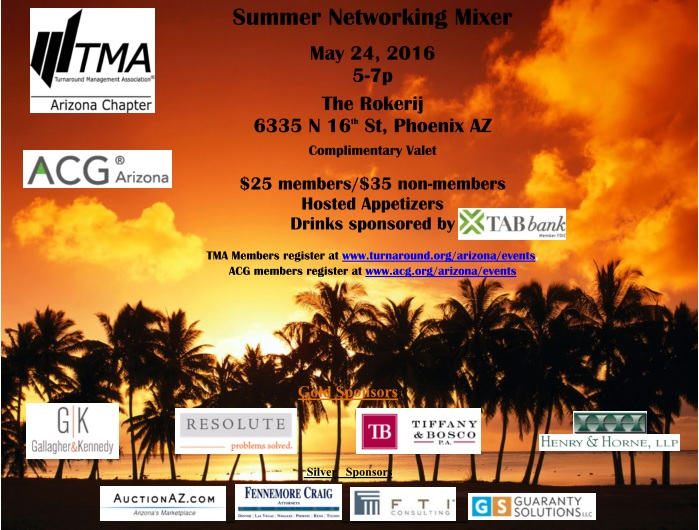 TMA Arizona, Summer Networking Mixer @ The Rokerij | Phoenix | Arizona | United States