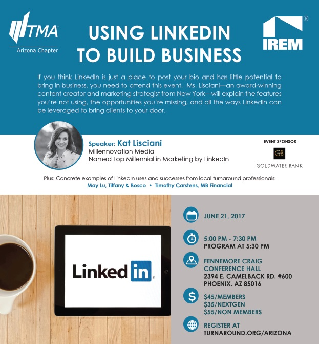 Using LinkedIn To Build Business @ Fennemore Craig Conference Hall | Phoenix | Arizona | United States