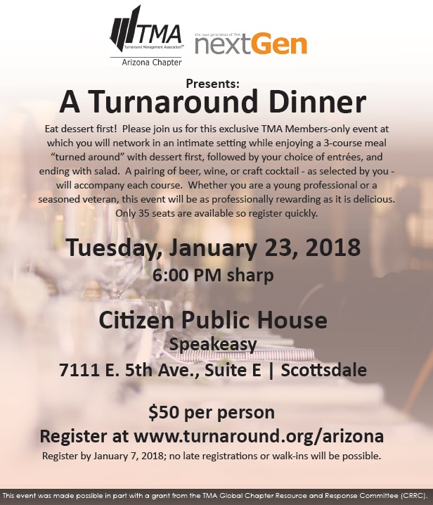 TMA, A Turnaround Dinner @ Citizen Public House | Scottsdale | Arizona | United States